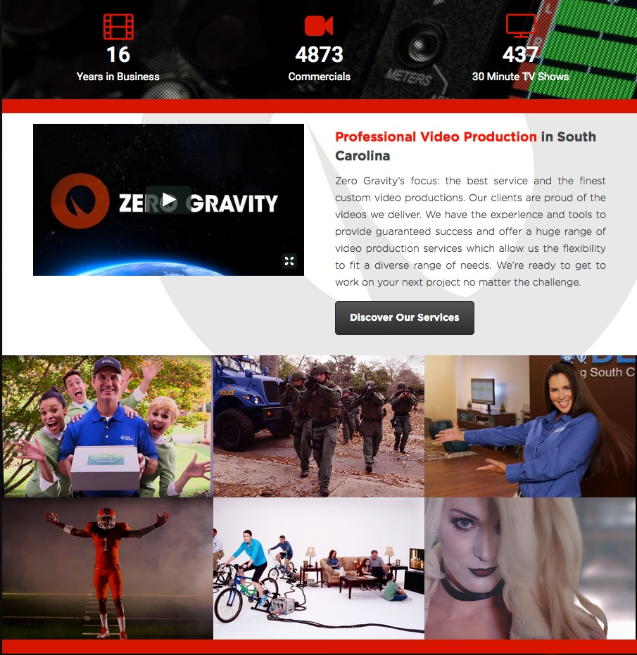Zero Gravity Launched 3.0 of the website January 26, 2016.